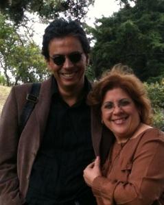 Con el poeta guatemalteco Armando Rivera